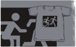 Accessible Exit Sign Project Wheelchair Wheelie Running Man Symbol Means of Egress Icon Disability Emergency Evacuation Fire Safety Kids T-shirt 220
