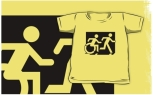 Accessible Exit Sign Project Wheelchair Wheelie Running Man Symbol Means of Egress Icon Disability Emergency Evacuation Fire Safety Kids T-shirt 229