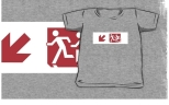 Accessible Exit Sign Project Wheelchair Wheelie Running Man Symbol Means of Egress Icon Disability Emergency Evacuation Fire Safety Kids T-shirt 239