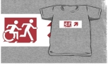 Accessible Exit Sign Project Wheelchair Wheelie Running Man Symbol Means of Egress Icon Disability Emergency Evacuation Fire Safety Kids T-shirt 256