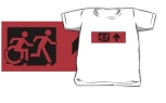 Accessible Exit Sign Project Wheelchair Wheelie Running Man Symbol Means of Egress Icon Disability Emergency Evacuation Fire Safety Kids T-shirt 26