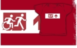 Accessible Exit Sign Project Wheelchair Wheelie Running Man Symbol Means of Egress Icon Disability Emergency Evacuation Fire Safety Kids T-shirt 260