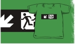 Accessible Exit Sign Project Wheelchair Wheelie Running Man Symbol Means of Egress Icon Disability Emergency Evacuation Fire Safety Kids T-shirt 266