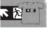 Accessible Exit Sign Project Wheelchair Wheelie Running Man Symbol Means of Egress Icon Disability Emergency Evacuation Fire Safety Kids T-shirt 268