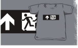 Accessible Exit Sign Project Wheelchair Wheelie Running Man Symbol Means of Egress Icon Disability Emergency Evacuation Fire Safety Kids T-shirt 275