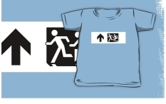 Accessible Exit Sign Project Wheelchair Wheelie Running Man Symbol Means of Egress Icon Disability Emergency Evacuation Fire Safety Kids T-shirt 276