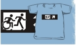 Accessible Exit Sign Project Wheelchair Wheelie Running Man Symbol Means of Egress Icon Disability Emergency Evacuation Fire Safety Kids T-shirt 283