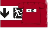 Accessible Exit Sign Project Wheelchair Wheelie Running Man Symbol Means of Egress Icon Disability Emergency Evacuation Fire Safety Kids T-shirt 288