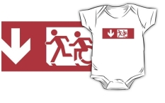 Accessible Exit Sign Project Wheelchair Wheelie Running Man Symbol Means of Egress Icon Disability Emergency Evacuation Fire Safety Kids T-shirt 29