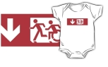Accessible Exit Sign Project Wheelchair Wheelie Running Man Symbol Means of Egress Icon Disability Emergency Evacuation Fire Safety Kids T-shirt 32
