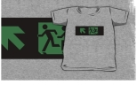 Accessible Exit Sign Project Wheelchair Wheelie Running Man Symbol Means of Egress Icon Disability Emergency Evacuation Fire Safety Kids T-shirt 47
