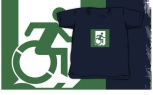 Accessible Exit Sign Project Wheelchair Wheelie Running Man Symbol Means of Egress Icon Disability Emergency Evacuation Fire Safety Kids T-shirt 60