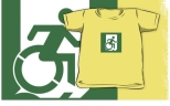 Accessible Exit Sign Project Wheelchair Wheelie Running Man Symbol Means of Egress Icon Disability Emergency Evacuation Fire Safety Kids T-shirt 61