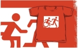 Accessible Exit Sign Project Wheelchair Wheelie Running Man Symbol Means of Egress Icon Disability Emergency Evacuation Fire Safety Kids T-shirt 7