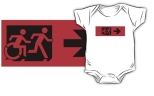Accessible Exit Sign Project Wheelchair Wheelie Running Man Symbol Means of Egress Icon Disability Emergency Evacuation Fire Safety Kids T-shirt 72