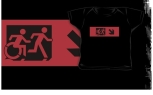Accessible Exit Sign Project Wheelchair Wheelie Running Man Symbol Means of Egress Icon Disability Emergency Evacuation Fire Safety Kids T-shirt 77