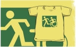 Accessible Exit Sign Project Wheelchair Wheelie Running Man Symbol Means of Egress Icon Disability Emergency Evacuation Fire Safety Kids T-shirt 79