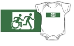 Accessible Exit Sign Project Wheelchair Wheelie Running Man Symbol Means of Egress Icon Disability Emergency Evacuation Fire Safety Kids T-shirt 84