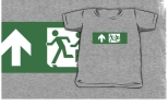 Accessible Exit Sign Project Wheelchair Wheelie Running Man Symbol Means of Egress Icon Disability Emergency Evacuation Fire Safety Kids T-shirt 87