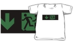 Accessible Exit Sign Project Wheelchair Wheelie Running Man Symbol Means of Egress Icon Disability Emergency Evacuation Fire Safety Kids T-shirt 89