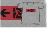 Accessible Exit Sign Project Wheelchair Wheelie Running Man Symbol Means of Egress Icon Disability Emergency Evacuation Fire Safety Kids T-shirt 92