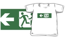 Accessible Exit Sign Project Wheelchair Wheelie Running Man Symbol Means of Egress Icon Disability Emergency Evacuation Fire Safety Kids T-shirt 93