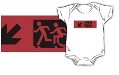 Accessible Exit Sign Project Wheelchair Wheelie Running Man Symbol Means of Egress Icon Disability Emergency Evacuation Fire Safety Kids T-shirt 95