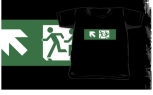 Accessible Exit Sign Project Wheelchair Wheelie Running Man Symbol Means of Egress Icon Disability Emergency Evacuation Fire Safety Kids T-shirt 96