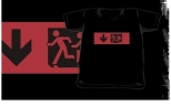 Accessible Exit Sign Project Wheelchair Wheelie Running Man Symbol Means of Egress Icon Disability Emergency Evacuation Fire Safety Kids T-shirt 98