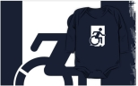 Accessible Exit Sign Project Wheelchair Wheelie Running Man Symbol Means of Egress Icon Disability Emergency Evacuation Fire Safety Kids T-shirts 107