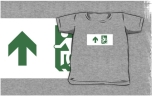 Accessible Exit Sign Project Wheelchair Wheelie Running Man Symbol Means of Egress Icon Disability Emergency Evacuation Fire Safety Kids T-shirts 115