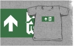Accessible Exit Sign Project Wheelchair Wheelie Running Man Symbol Means of Egress Icon Disability Emergency Evacuation Fire Safety Kids T-shirts 119