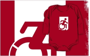 Accessible Exit Sign Project Wheelchair Wheelie Running Man Symbol Means of Egress Icon Disability Emergency Evacuation Fire Safety Kids T-shirts 120