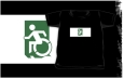 Accessible Exit Sign Project Wheelchair Wheelie Running Man Symbol Means of Egress Icon Disability Emergency Evacuation Fire Safety Kids T-shirts 124