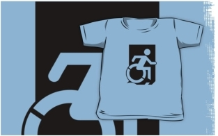 Accessible Exit Sign Project Wheelchair Wheelie Running Man Symbol Means of Egress Icon Disability Emergency Evacuation Fire Safety Kids T-shirts 125
