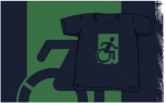 Accessible Exit Sign Project Wheelchair Wheelie Running Man Symbol Means of Egress Icon Disability Emergency Evacuation Fire Safety Kids T-shirts 129