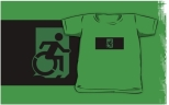Accessible Exit Sign Project Wheelchair Wheelie Running Man Symbol Means of Egress Icon Disability Emergency Evacuation Fire Safety Kids T-shirts 136