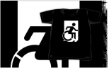 Accessible Exit Sign Project Wheelchair Wheelie Running Man Symbol Means of Egress Icon Disability Emergency Evacuation Fire Safety Kids T-shirts 141