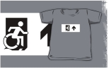 Accessible Exit Sign Project Wheelchair Wheelie Running Man Symbol Means of Egress Icon Disability Emergency Evacuation Fire Safety Kids T-shirts 147