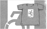 Accessible Exit Sign Project Wheelchair Wheelie Running Man Symbol Means of Egress Icon Disability Emergency Evacuation Fire Safety Kids T-shirts 154