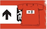 Accessible Exit Sign Project Wheelchair Wheelie Running Man Symbol Means of Egress Icon Disability Emergency Evacuation Fire Safety Kids T-shirts 156