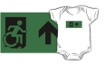 Accessible Exit Sign Project Wheelchair Wheelie Running Man Symbol Means of Egress Icon Disability Emergency Evacuation Fire Safety Kids T-shirts 16