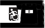Accessible Exit Sign Project Wheelchair Wheelie Running Man Symbol Means of Egress Icon Disability Emergency Evacuation Fire Safety Kids T-shirts 161