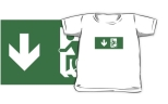 Accessible Exit Sign Project Wheelchair Wheelie Running Man Symbol Means of Egress Icon Disability Emergency Evacuation Fire Safety Kids T-shirts 18