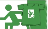 Accessible Exit Sign Project Wheelchair Wheelie Running Man Symbol Means of Egress Icon Disability Emergency Evacuation Fire Safety Kids T-shirts 3