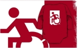 Accessible Exit Sign Project Wheelchair Wheelie Running Man Symbol Means of Egress Icon Disability Emergency Evacuation Fire Safety Kids T-shirts 46