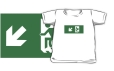 Accessible Exit Sign Project Wheelchair Wheelie Running Man Symbol Means of Egress Icon Disability Emergency Evacuation Fire Safety Kids T-shirts 5