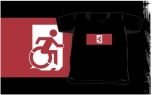 Accessible Exit Sign Project Wheelchair Wheelie Running Man Symbol Means of Egress Icon Disability Emergency Evacuation Fire Safety Kids T-shirts 57