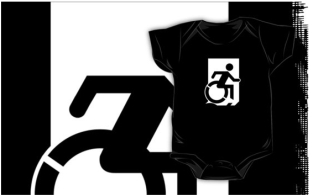 Accessible Exit Sign Project Wheelchair Wheelie Running Man Symbol Means of Egress Icon Disability Emergency Evacuation Fire Safety Kids T-shirts 6