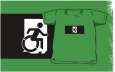 Accessible Exit Sign Project Wheelchair Wheelie Running Man Symbol Means of Egress Icon Disability Emergency Evacuation Fire Safety Kids T-shirts 69